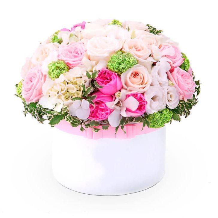 "Цветы в коробке ""Сердце ангела"""