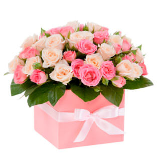 Цветы в коробке «Для любимой»