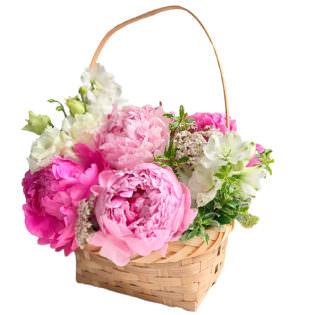 Цветы в корзинке «Добрые слова»