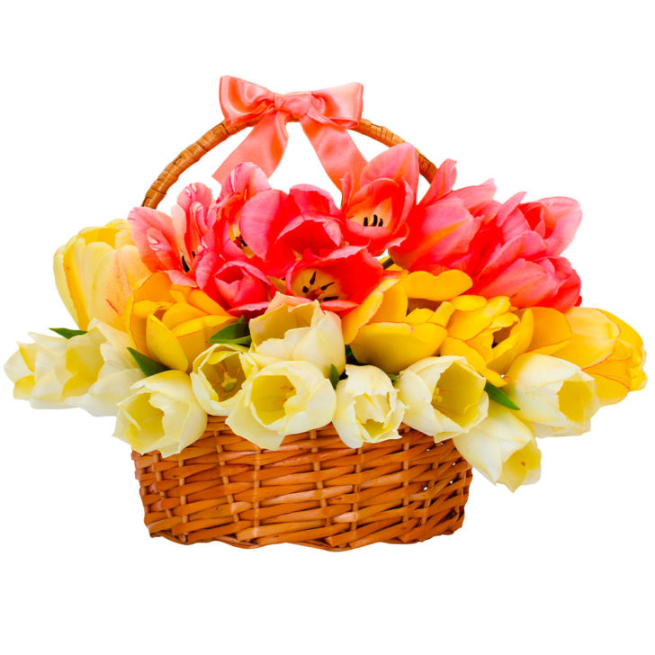 """Цветы в корзинке """"Дуэт"""""""
