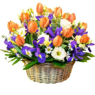 Цветы в корзинке «Дыхание будущего»