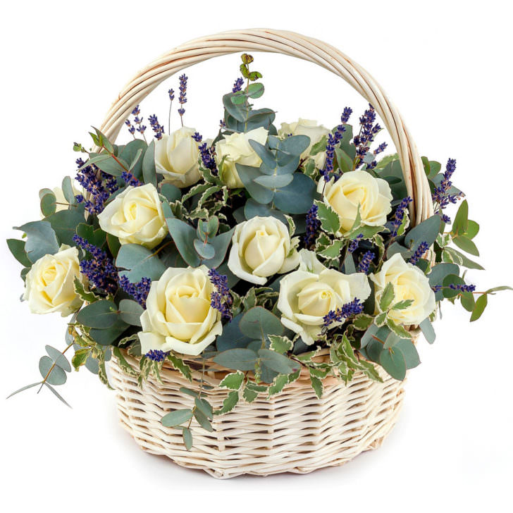 """Цветы в корзинке """"Нежность"""""""