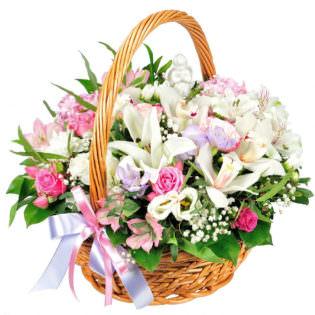 Цветы в корзинке «Симпатия»