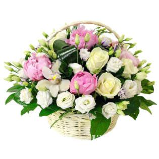 Цветы в корзинке «Тиффани»