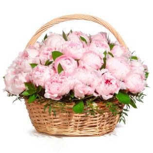 Цветы в корзинке «Зефир»